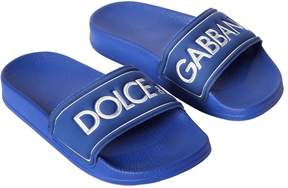 Dolce & Gabbana Logo Embossed Rubber Slide Sandals