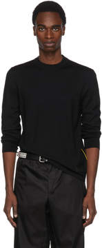 Prada Black and Yellow Side Stripe Sweater