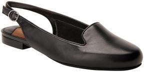 Ros Hommerson Black Oceana Leather Slingback Flat - Women