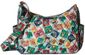 Vera Bradley On the Go Cross Body Handbags - CUBAN STAMPS - STYLE