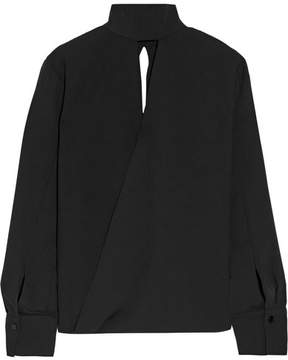 By Malene Birger Almara Cutout Crepe Blouse - Black