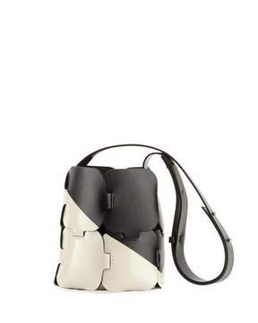 Paco Rabanne 1601 Patchwork Two-Tone Mini Hobo Bag
