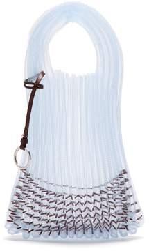 Jil Sander Market Small Embellished Net Tote Bag - Womens - Light Blue
