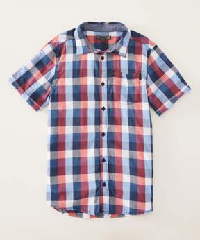 DKNY Pompeian Check Button-Up - Toddler & Boys