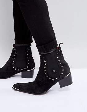 Jeffery West Sylvian Studded Chelsea Boots In Black