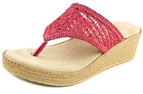 Sbicca Tomatillo Women Open Toe Canvas Pink Thong Sandal.