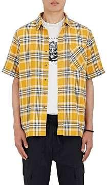 Ovadia & Sons Men's Plaid Cotton Flannel Shirt