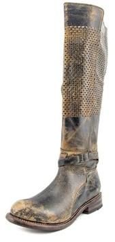Bed Stu Biltmore Women Round Toe Leather Black Knee High Boot.