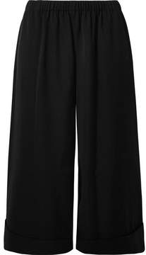 Comme des Garcons Wool-twill Culottes - Black
