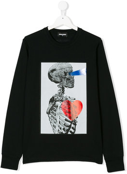 DSQUARED2 skeleton print top