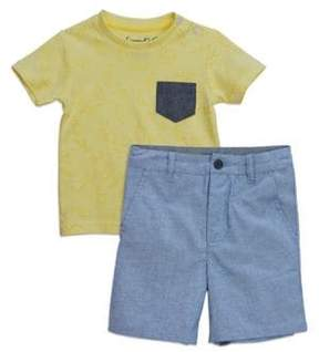 Sovereign Code Little Boy's Two-Piece Patch Pocket Tee and Shorts Set