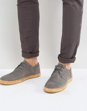 Zign Shoes Leather Lace Up Shoes With Cork Soles