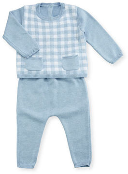 Mayoral Striped Knit Top w/ Footed Pants, Size 1-9 Months