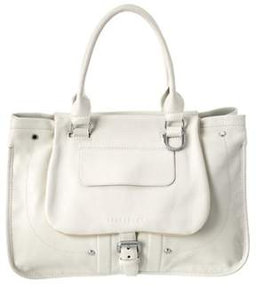 Longchamp Balzane Leather Shoulder Bag. - WHITE - STYLE