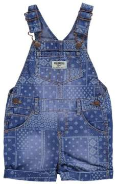 Carter's OshKosh B'gosh Baby Clothing Outfit Girls Patchwork Handkerchief Denim Shortalls 3M