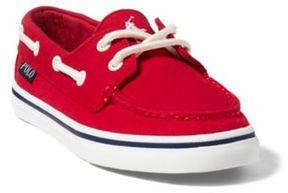 Ralph Lauren Batten Canvas Boat Shoe Red 13