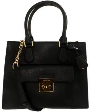 Michael Kors Women's Medium Bridgette East West Leather Top-Handle Tote - Black - BLACK - STYLE