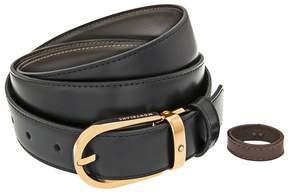 Montblanc Black / Brown Leather Reversable Men's Belt