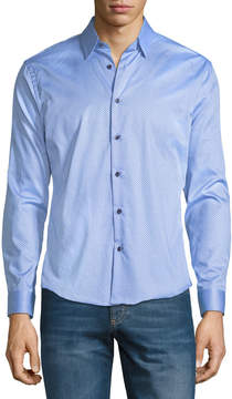 Neiman Marcus Slim-Fit Wear it Out Dotted Sport Shirt