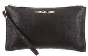 MICHAEL Michael Kors Leather Zip Wristlet