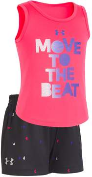 Under Armour Toddler Girl Move To The Beat Graphic Tank & Shorts Set