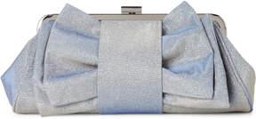 La Regale Silver Shimmer Convertible Clutch