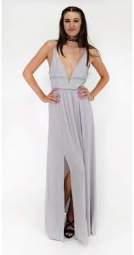 Ark & Co Light Hearted Light Grey Maxi Dress