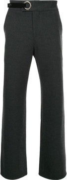 General Idea eyelet detail flared trousers