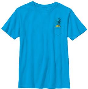 Fifth Sun Turquoise Pocket Pineapple Crewneck Tee - Boys