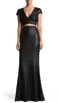 Dress the Population Women's Cara Two-Piece Gown