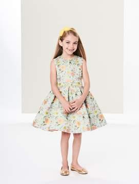 Oscar de la Renta Peony Jacquard Party Dress