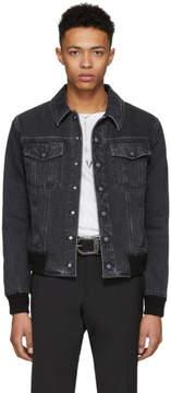 Saint Laurent Black Stone Wash Denim Jacket