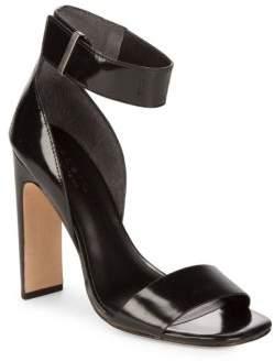 Halston Open Toe Leather Sandals
