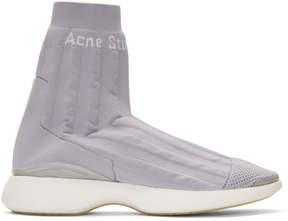 Acne Studios Purple Batilda High-Top Sneakers