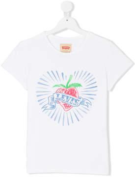 Levi's Kids strawberry and logo banner print T-shirt
