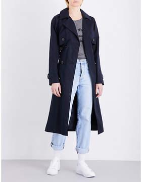 Claudie Pierlot Ladies Marine Feminine Gabin Cotton-Blend Trench Coat