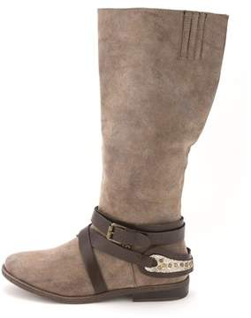 Rampage Womens Isadora Almond Toe Mid-calf Riding Boots.