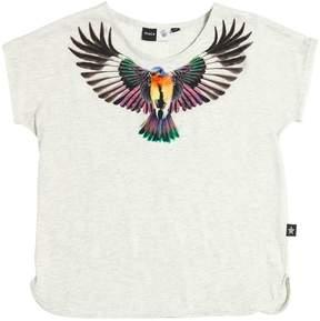 Molo Bird Print Cotton Jersey T-Shirt