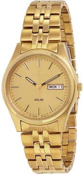 Seiko Solar Champagne Dial Men's Watch
