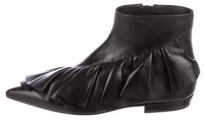 J.W.Anderson Leather Ruffle Ankle Boots