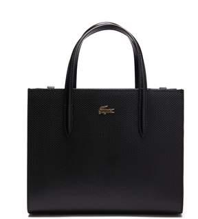 Lacoste Women's Chantaco Dual Carry Pique Zip Leather Tote
