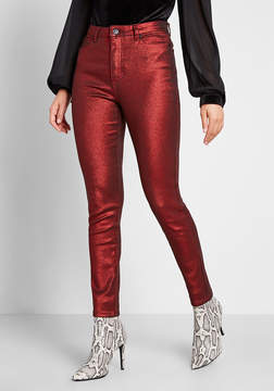 Modcloth The Hollywood Metallic Denim Pants