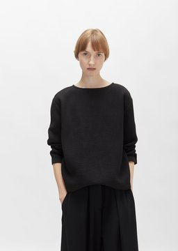 Black Crane Cotton Double Canvas Top Black Size: X-Small