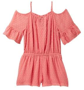 Ella Moss Cold Shoulder Romper (Big Girls)