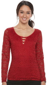 Candies Candie's Juniors' Candie's® Criss-Cross Lace Top
