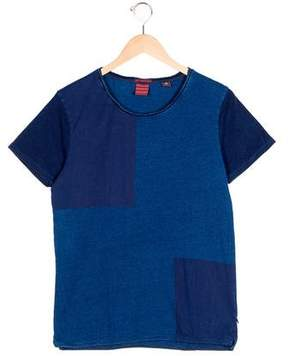 Scotch & Soda Boys' Geometric Print Short Sleeve T-Shirt