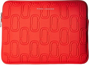 Marc Jacobs 13 Double J Neoprene Computer Case Wallet - POPPY RED - STYLE