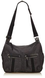 Gucci Pre-owned: Guccissima Denim Shoulder Bag. - BLACK - STYLE
