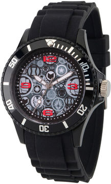 Marvel Classic Mens Black Strap Watch-Wma000070
