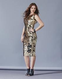AX Paris Gold Sequin Bodycon Dress